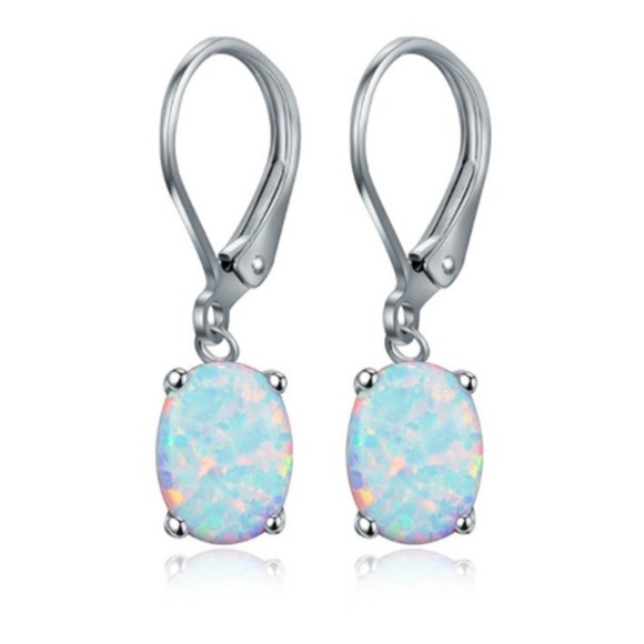 0ddfaf9c7fc5e Sterling silver Opal Drop Earrings